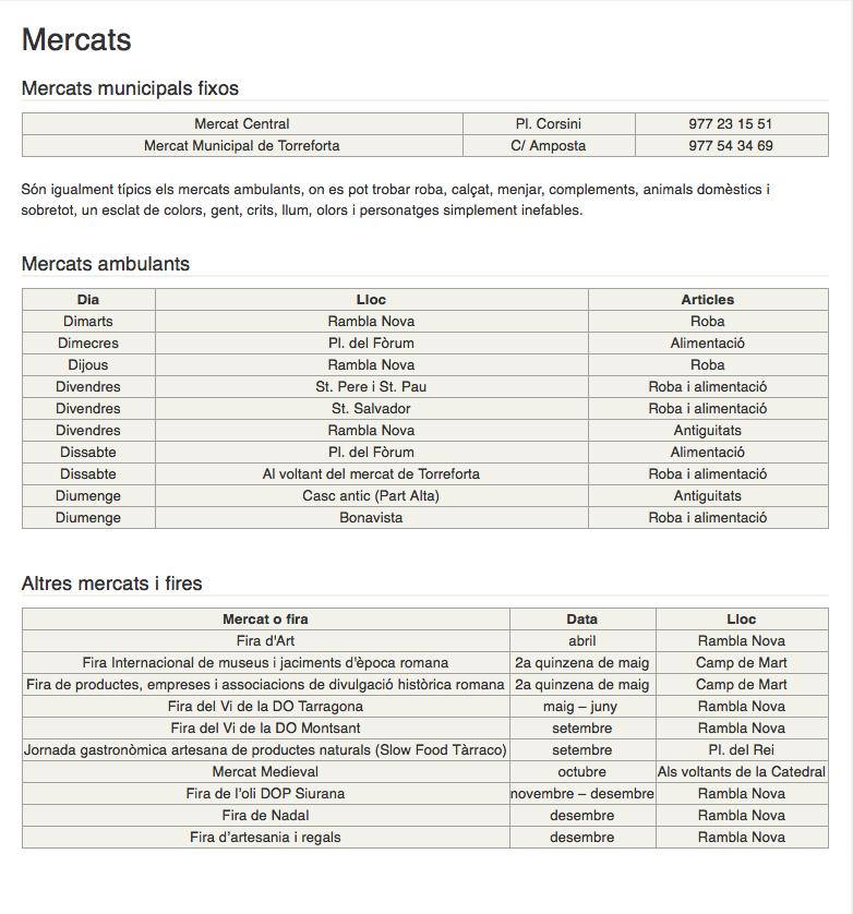 Mercats de Tarragona
