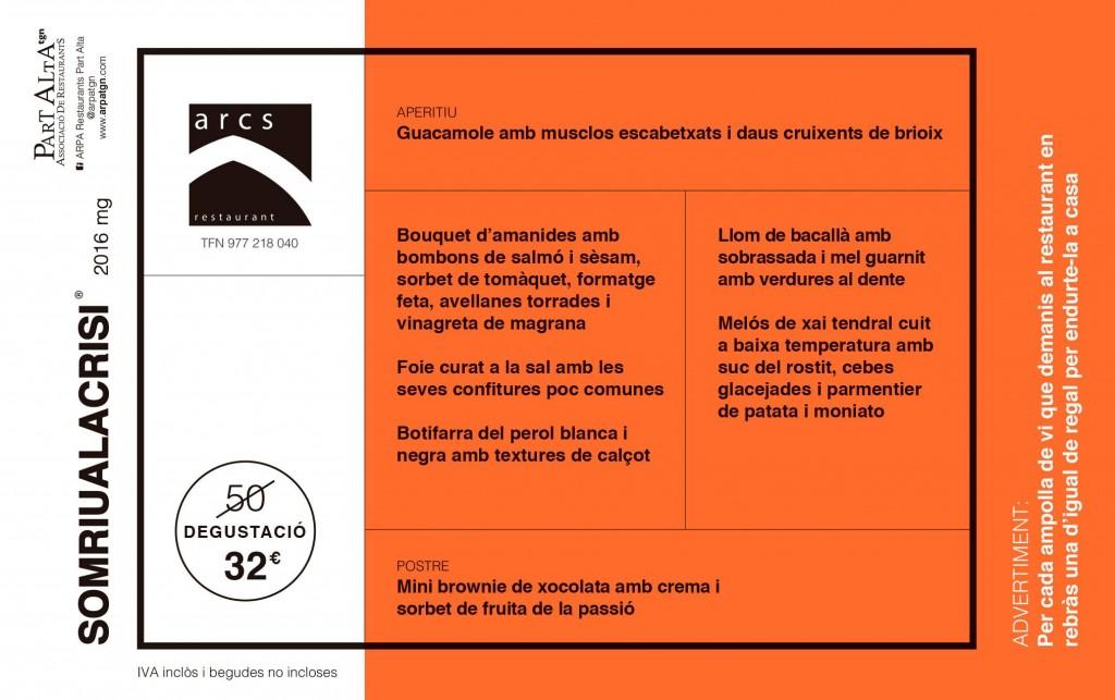 Menú degustació Arcs (32€)