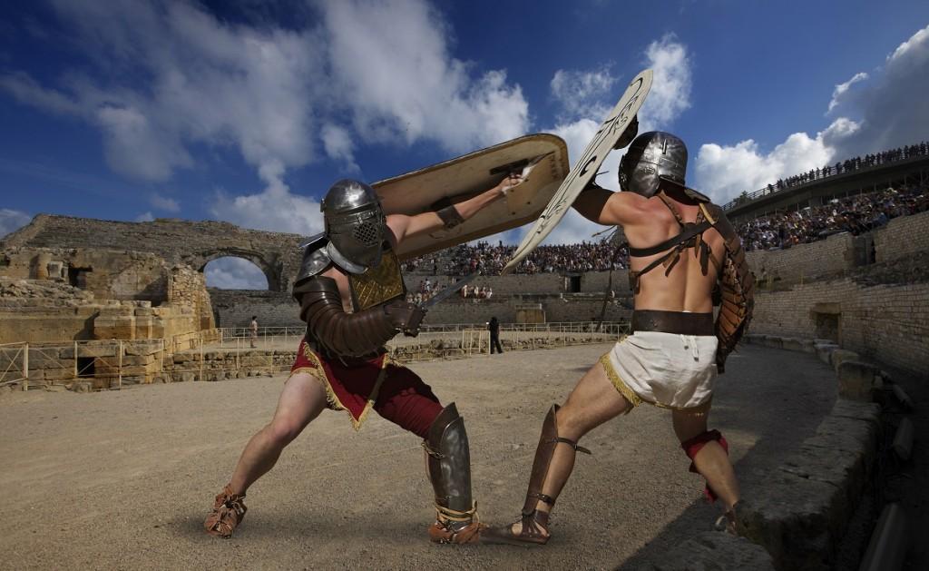 Gladiadors a l'amfiteatre de Tarraco. / ©Rafael López-Monné